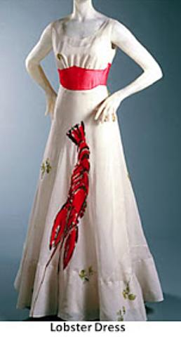 lobster-printed dress