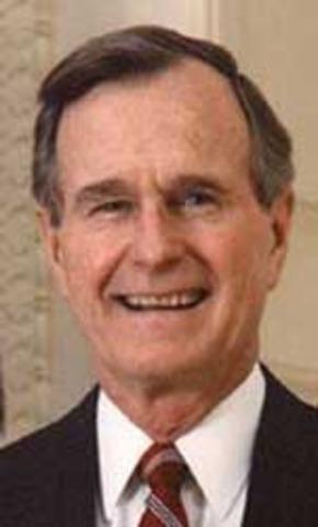George Bush wins election