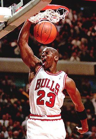 Michael Jordan scores a playoff high 63 points