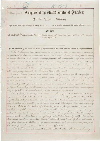 Sherman Act is passed