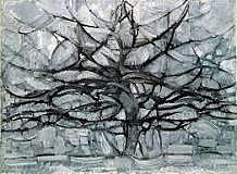 De grijze boom