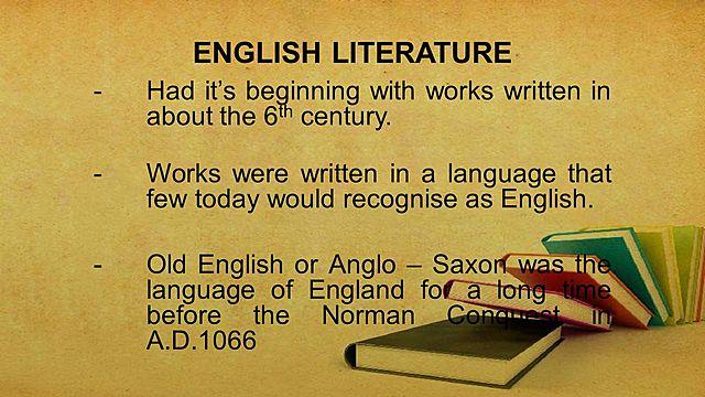 The beginning of English literature
