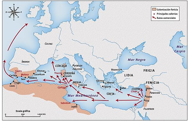 Colonización comercial del Mediterráneo