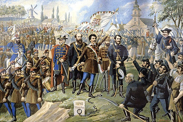 Defeat of Hungarian with help of Russian Troops