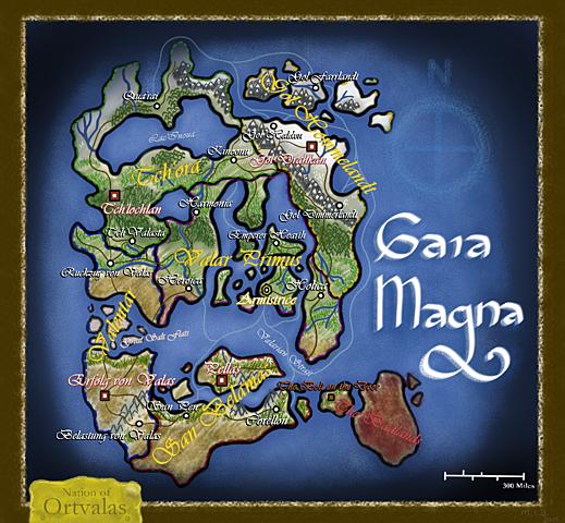 Map of Gaia Magna