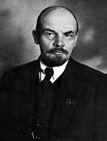 Death of Vladimir Lenin; control of USSR to Joseph Stalin; deaths of 8-13 million Russians
