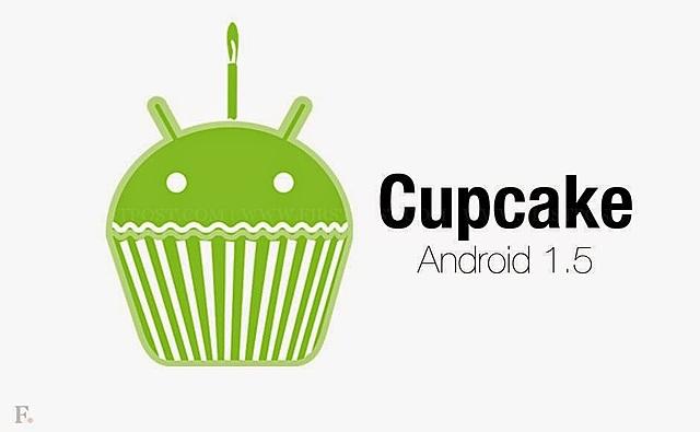 Android 1.5 Cupcake  (La aparición del teclado virtual)
