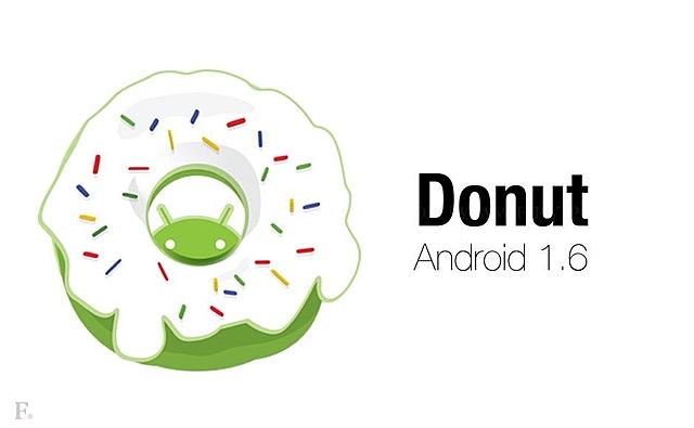Android 1.6 Donut (Llega el soporte para nuevos tamaños de pantalla)