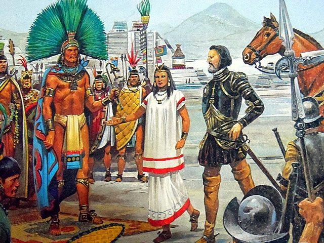 Hernan Cortés arrives in Tenochtitlan
