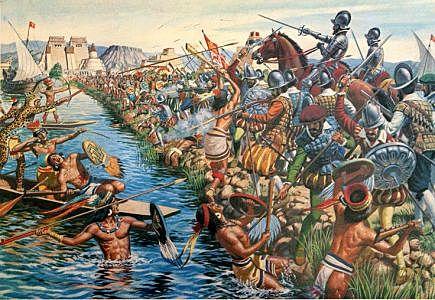 The Aztec Empire falls