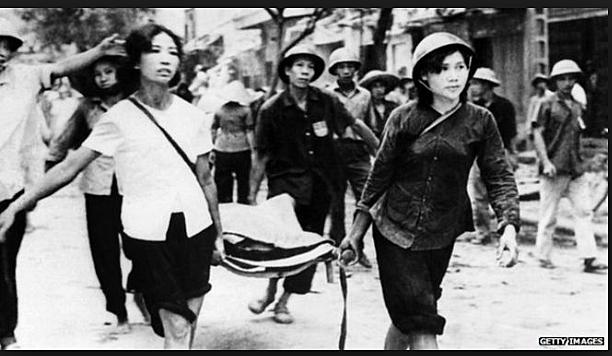 Intensive bombing of North Vietnam