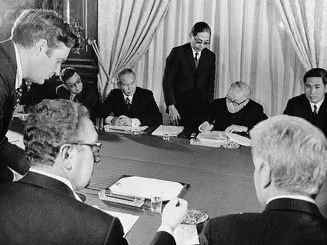 United States and North Vietnam sign truce