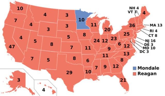 Ronald Reagan reelected