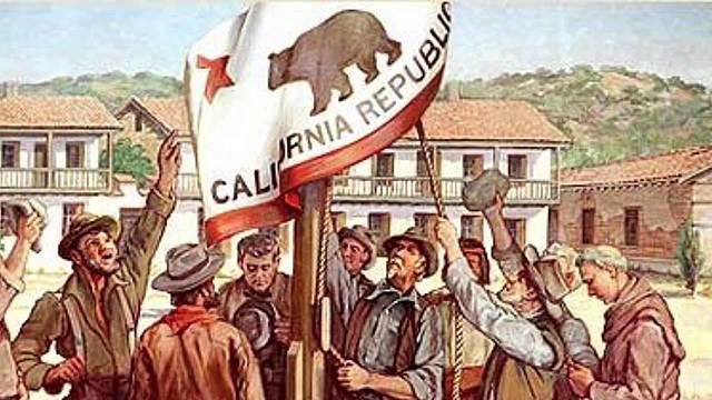 The Bear Flag revolt (California)