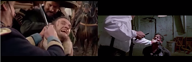 1966 Django Tarantino Homage in Reservoir Dogs 1992 & Django Unchained 2012