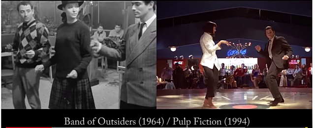 1964 Band of Outsiders Homage in Pulp Fiction 1994