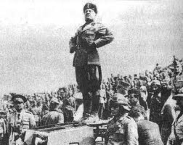 Mussolini conquers Italy.