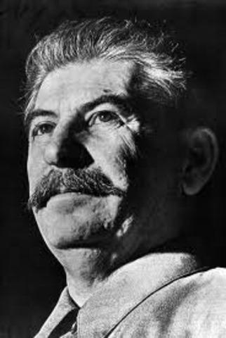 Death of Vladamir Lenin, control given to Stalin.