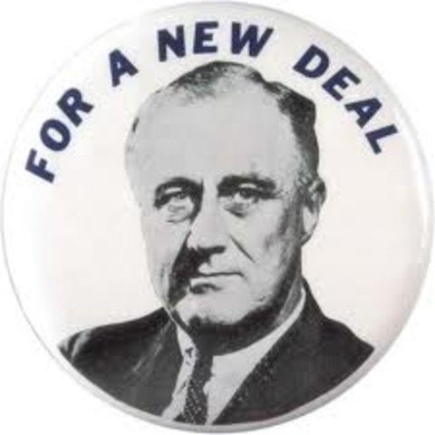 Roosevelt takes office.