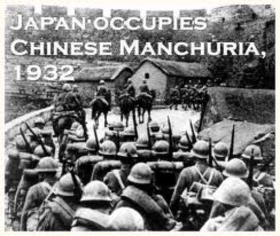 Manchuria invaded by Japan.