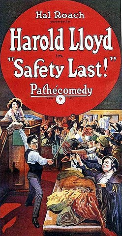 1923 Safety Last - Harold Lloyd homage in Hugo & many others
