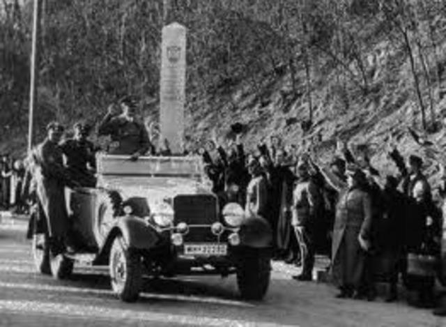 Hitler takes Austria.