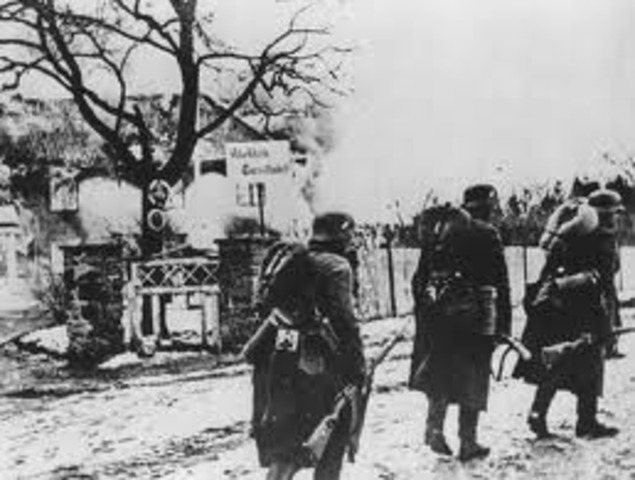 German invasion of Denmark and Norway.