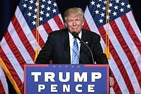"""טראמפ נבחר לנשיא 45 של ארה""""ב 2016"""