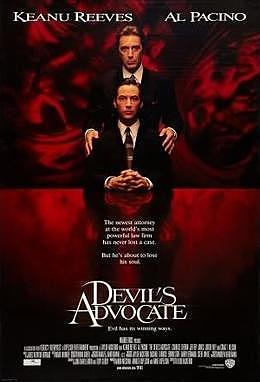 1997 The Devil's Advocate homage to John Milton's name writer of Paradise Lost