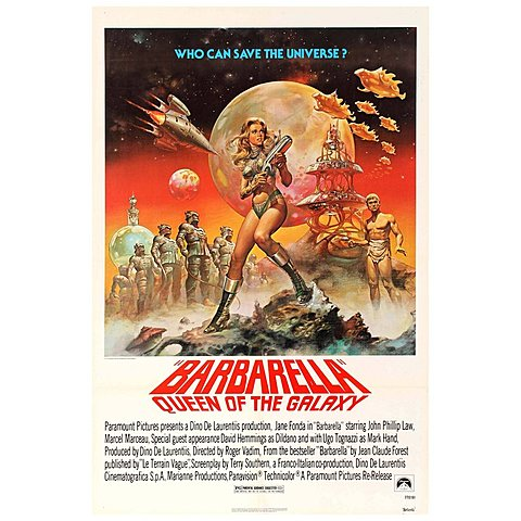 1968 Barbarella homage to silly sci fi movies