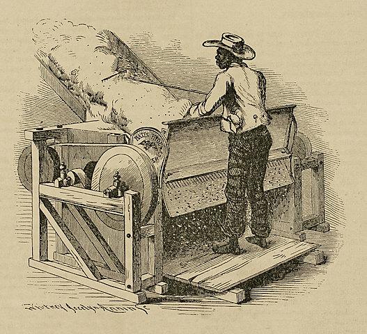Maquina de desgranar algodón
