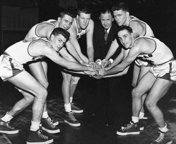 The Kansas Jayhawk's win their first NCAA Championship.