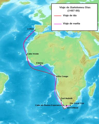 Bartholomeu Dias rouds tip of Africa