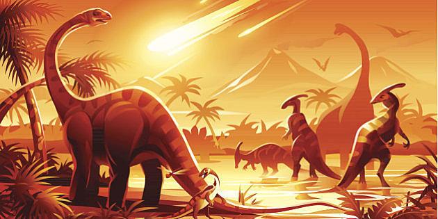 Se extingue la mayoría de la vida marina, las plantas y los dinosaurios
