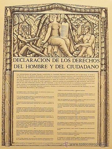 Redaccion de la Declaracion de los derechos del hombre y el ciudadano