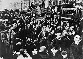 Manifestacion de mujeres en petrogrado