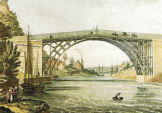 Inauguración del primer puente de Hierro.