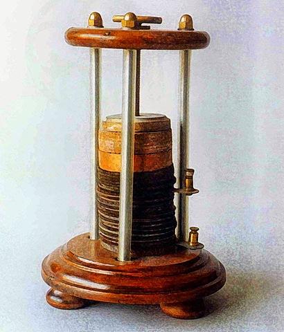 Invención de la pila eléctrica.