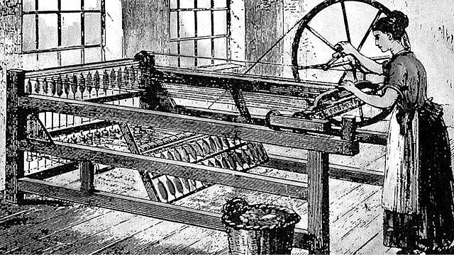 Invención de la Hiladora Spinning Jenny.