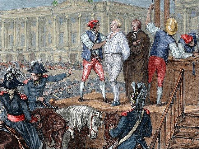 Sentencia y ejecución de Luis XVI.