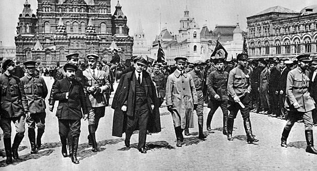 Conquista del poder por los bolcheviques.