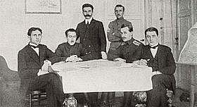Firma del Tratado de Brest-Litovsk.