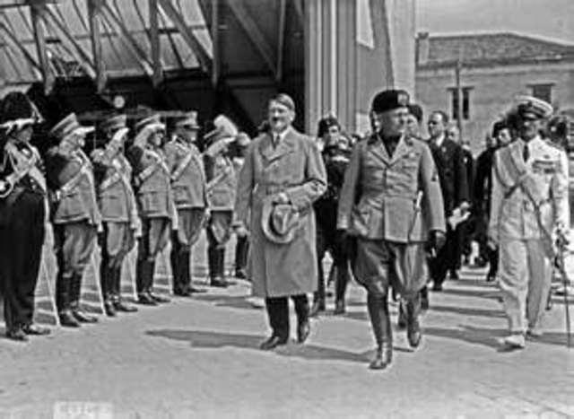 Hitler begins militar buildup