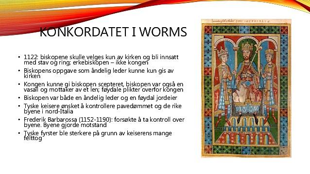 Konkordatet i Worms avslutter investiturstriden