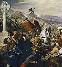Islamsk framrykning stanses ved Poitiers og Tours etter at muslimene har erobret hele Spania