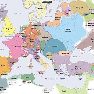 Det nye Europa tar form (1400-1700) timeline