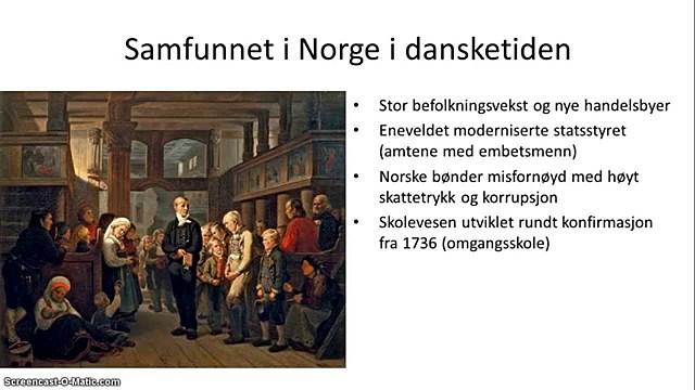 Eneveldet innføres i Danmark-Norge