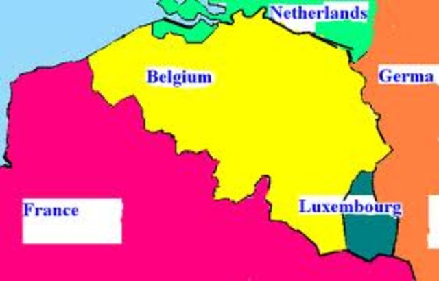 defeat of the netherlands, belgium and luxemburg by germany
