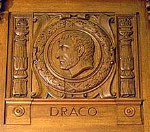 Draco's code of law is introduced