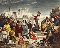 The Peloponnesian Wars begins between Sparta and Athens